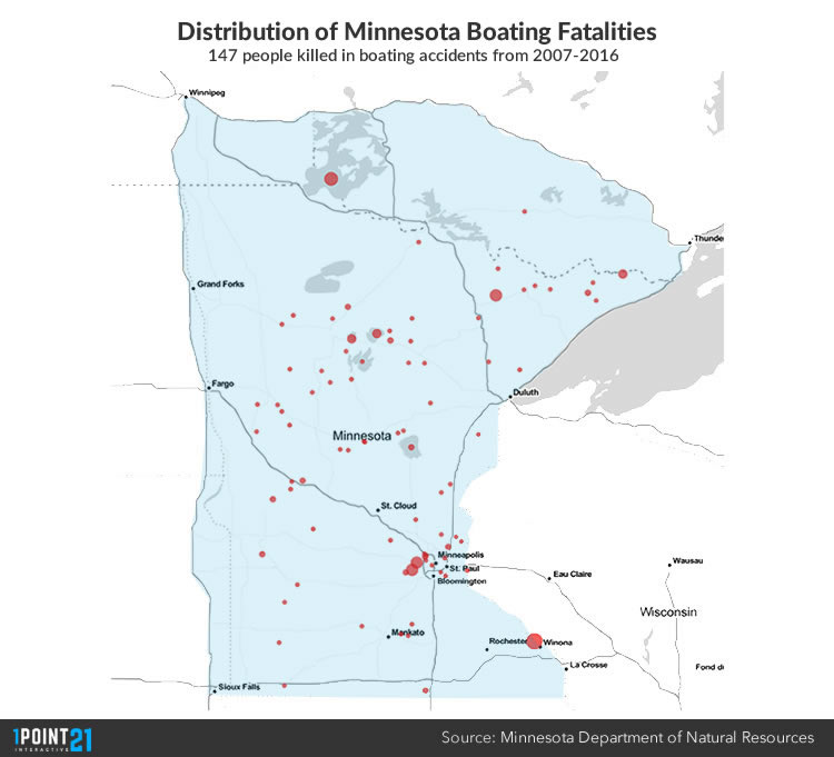 Mn Boating Fatalities Map