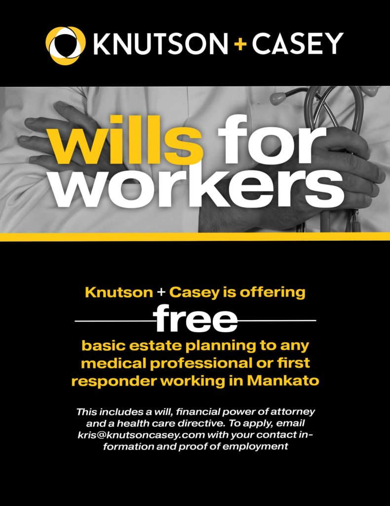 free estate planning for Mankato healthcare workers